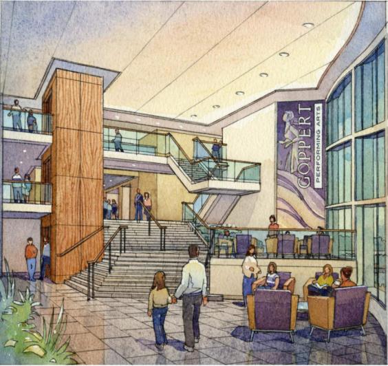 goppert-performing-arts-center_lobby-rendering
