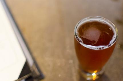 Martin City Brewer berr glass