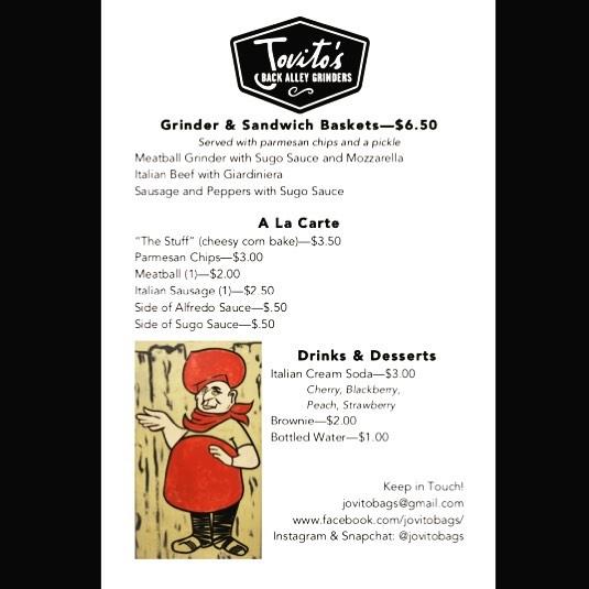 Jovito's menu