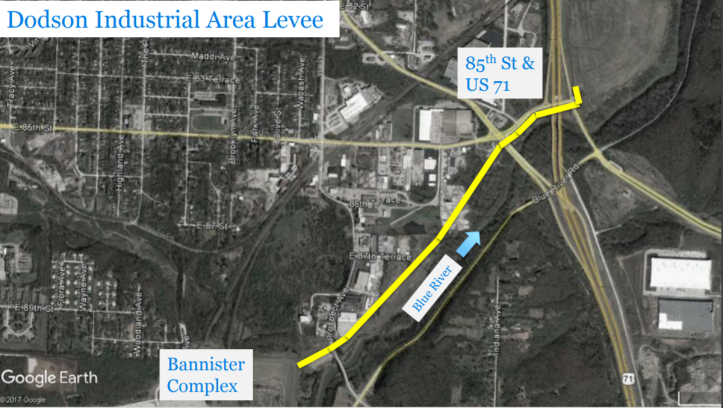 Dodson Flood Wall plan